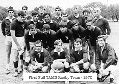 First Full TAMU Rugby Team - 1970